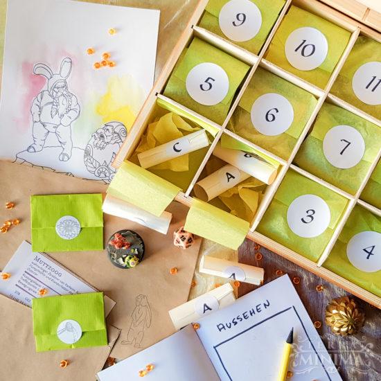 Draufansicht auf Kalender-Box